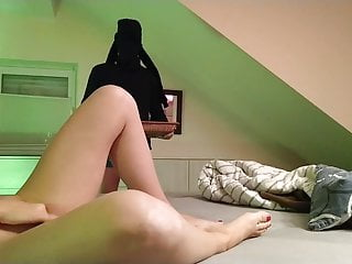 Amateur sex video free to watch Femdom masturbation, slave not allowed to watch