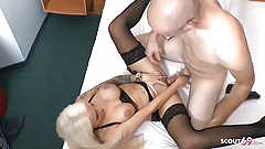 White Monster Cock Fucks German Latex Teen in Hotel at Date