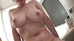 Busty wife in bathroom