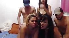 big asses 3 latin bitches party sex