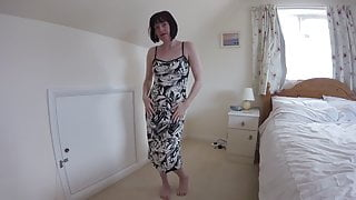 Wife Does Striptease in Cocktail Dress