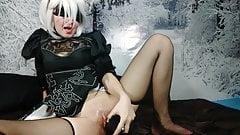 Nier automata - 2B Dildo masturbation