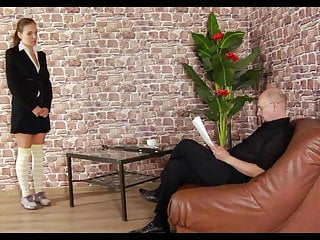 Whipped ass stripped Humiliating job interview butt plugged stripped and spanked