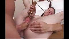 Girl with a Golden Wand, and an Ass full of Cum