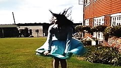 SKIRT OUT OF CONTROL IN THE BREEZE