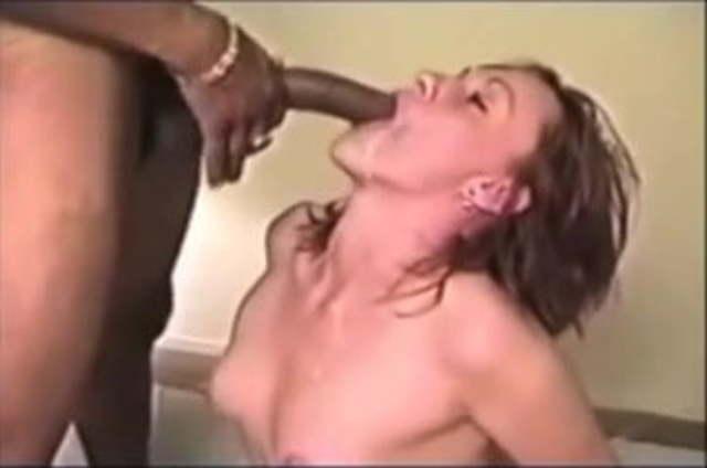 Dildo Mounted Sucking Cock