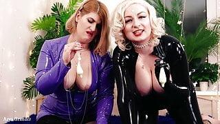 Cuckold Femdom Pov Free Sex Porn Video with 2 Lesbians, Arya