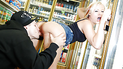 College Girl Jasmine Has Public Fuck in Mall Store before Party
