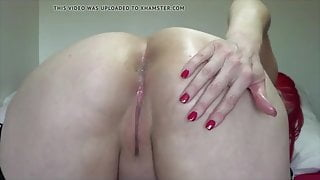 Sexy English girl talking dirty, anal play and farting