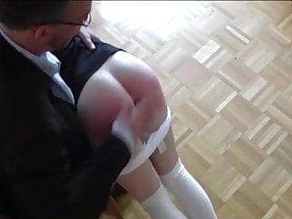 Bums spanked - Red bum