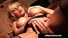 Hot Teasing Milf Julia Ann Touches Herself In Fishnets!