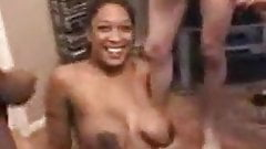 Nasty Black hooker takes loads from cheap johns