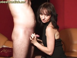 Cfnm amateur handjob 2 cumshots on maya clothes