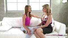 Lesbo stepmom spanking naughty teen babe