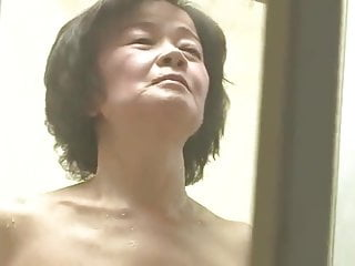 Hairy men in showers Japanese 70 year old granny gets fucked by 2 young men