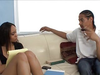 Ebony suck and fuck Pretty ebony takes break from studying to suck and get fucked