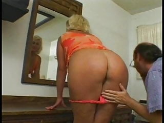Guy shaving penis Blonde granny with a shaved pussy loves it when younger guy fucks her ass