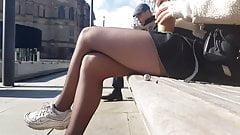 pantyhose teen candid