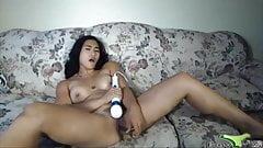 athletic asian bbc lover enjoing vibrator