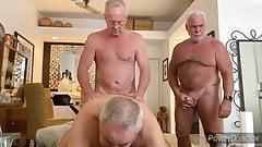 Hot daddies playing 3some