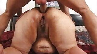 Grandma's ass is demolished