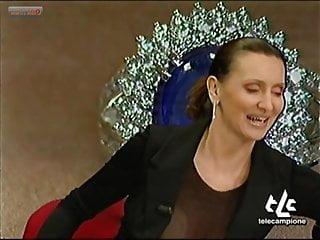 Vintage pioneer elite big tv Joanna golabek oops tits on italian tv