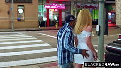 BLACKEDRAW Blond cutie tourist finds BBC in the big city