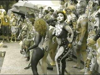Tribal penis streaching - Tribal paint public nudity