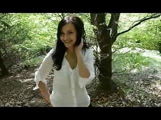 Cute girl blowjob Cute german girl blowjob in forest