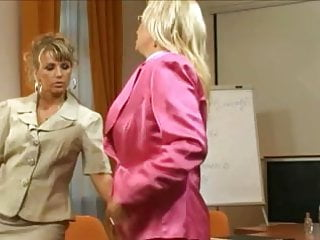 Pt pantyhose Pantyhose threesome in the office - pt. 1