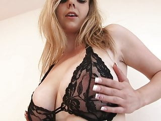 Free busty centerfold naughty in bed - Busty sapphire in lacy lingerie masturbates solo in bed