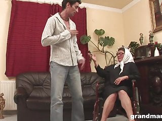 Wheelchair sex fetish Old grandma in wheelchair gets healed by hard young dick