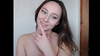 Russian shy girl shows her body and legs