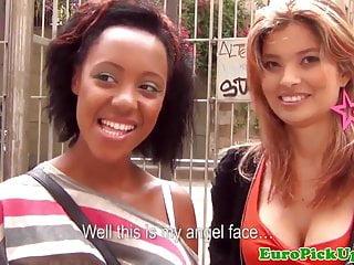 Boob videos ethnic Pulled spanish ethnic babes swap jizz
