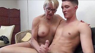 Mature woman seduce young man