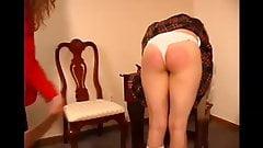 schoolgirl wedgie butt spanking