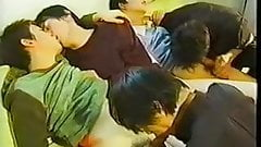Asian gay orgy sucking uncensored