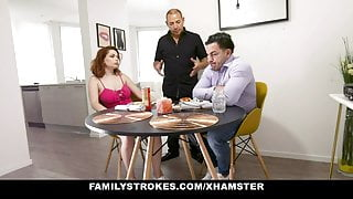 FamilyStrokes - Big Tits Redhead Fucked By Stepbrother