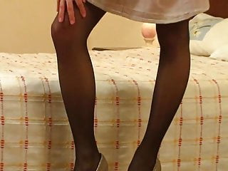 Gallery heel high sexy stocking Sexy pantyhose and high heels on this teen