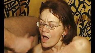 Mature granny getting dildo'd