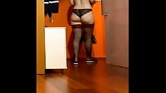 Mature wife spied in locker 11