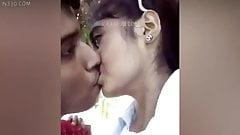 Outdoor kiss