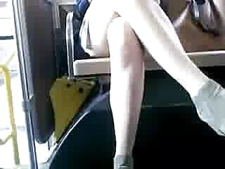 Office short skirt sex - Bus cam 1: short skirt honey