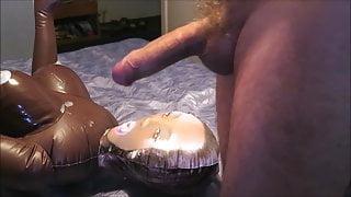 Cumming on black dolls tits