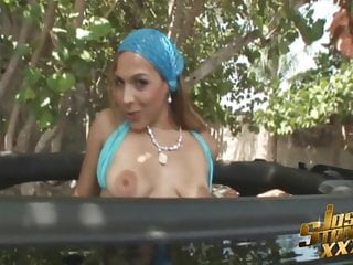 Nude beach north miami - Big booty white slut fucks black cock on miami beach in jeep