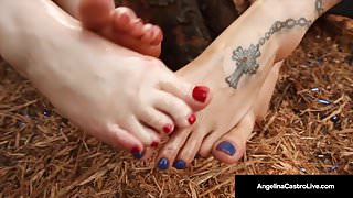 Curvy BBW's Angelina Castro & Virgo Peridot Please A BBC!