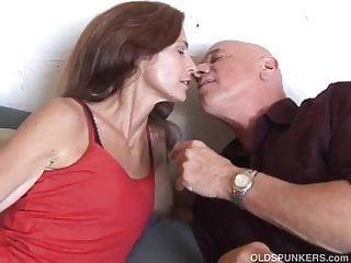 Older women videos xxx milf - Slim older babe enjoys a hard cock in her tight asshole