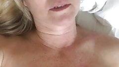 Blonde milf enjoying vibrator