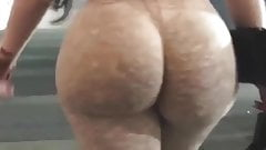 big cock Candid ass - juicy jiggly phat ass in parking garage first anal