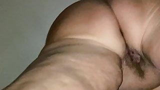 My wife shows her pussy and pussylips Part 2